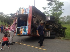 Bus Crash in Panama - minutes after witnessing and assisting
