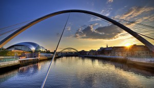 Gateshead Millennium Bridge Newcastle