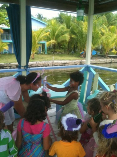 Party Games at the Cosmic Crab Cafe in Bocas Del Toro Panama