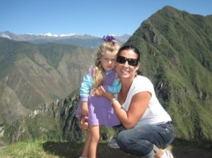 Rhonda and Hanalei Swan at Machu Picchu