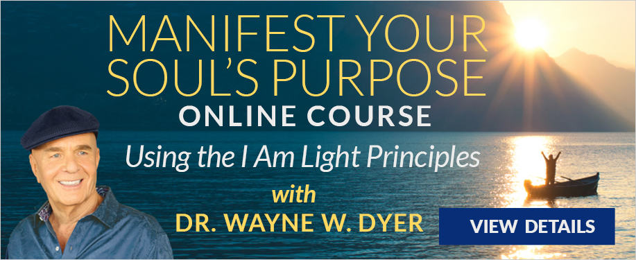 Wayne Dyer Manifest your Soul's purpose 220x90