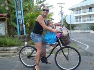 Biking to school in Panama
