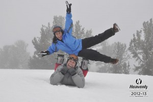 If it is not the Original Lifestyle by Design couple Rhonda and Brian Playing Usual in the Snow at Heavenly, Lake Tahoe, CA