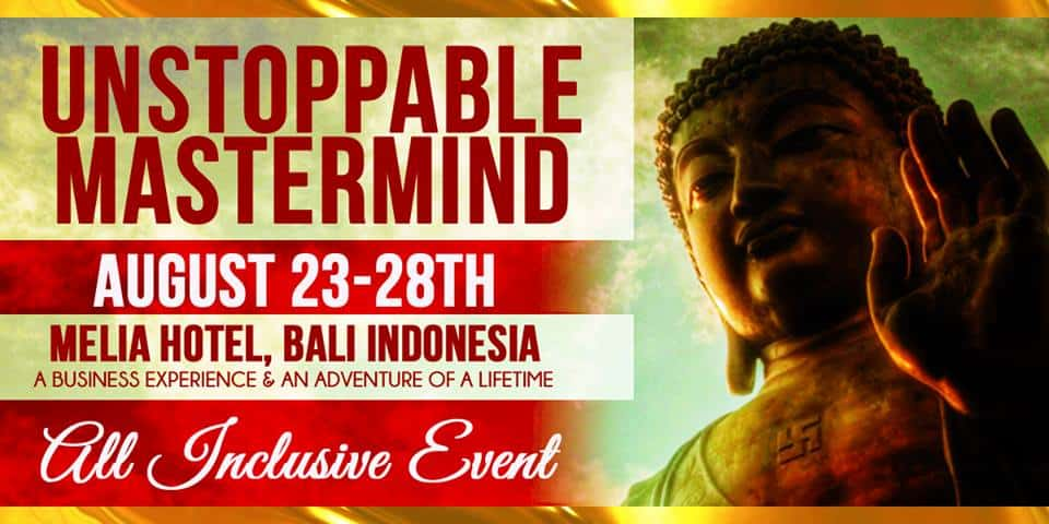 bali unstoppable mastermind event