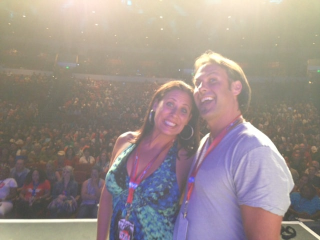On Stage in Front of 6800 People